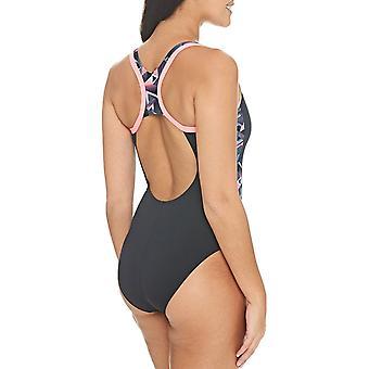 Zoggs Womens Conquest Atomback Swimming Swim Pool Summer Swimsuit Costume Preto