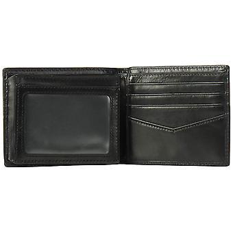 Fossil Men's RFID Flip ID Bifold Wallet, Black, One Size, Black, Size One Size