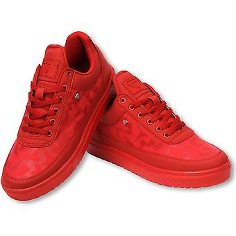 Shoes - Sneaker Low Camouflage Side - Case Army Full Red
