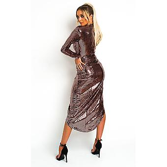 IKRUSH Vomens Naomi Sequin ozdoba Maxi Dress