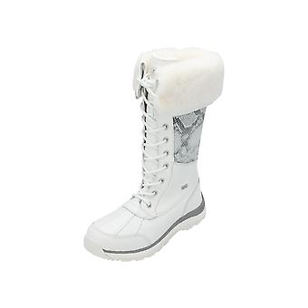 UGG Adirondack Tall II Snake Women's Boots White Lace-Up Boots Winter