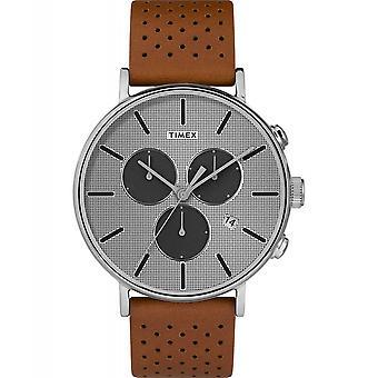 Timex TW2R79900 Fairfield chronograph Supernova armbåndsur sølv tone