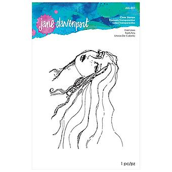Jane Davenport Hair Lines Clear Stamp