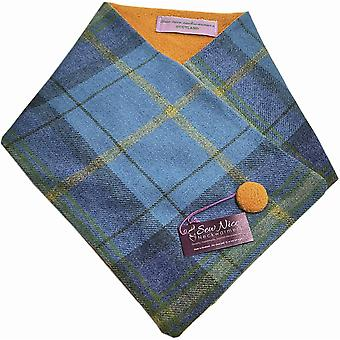 Sew Nice Neckwarmers Blue & Yellow Tweed One Size