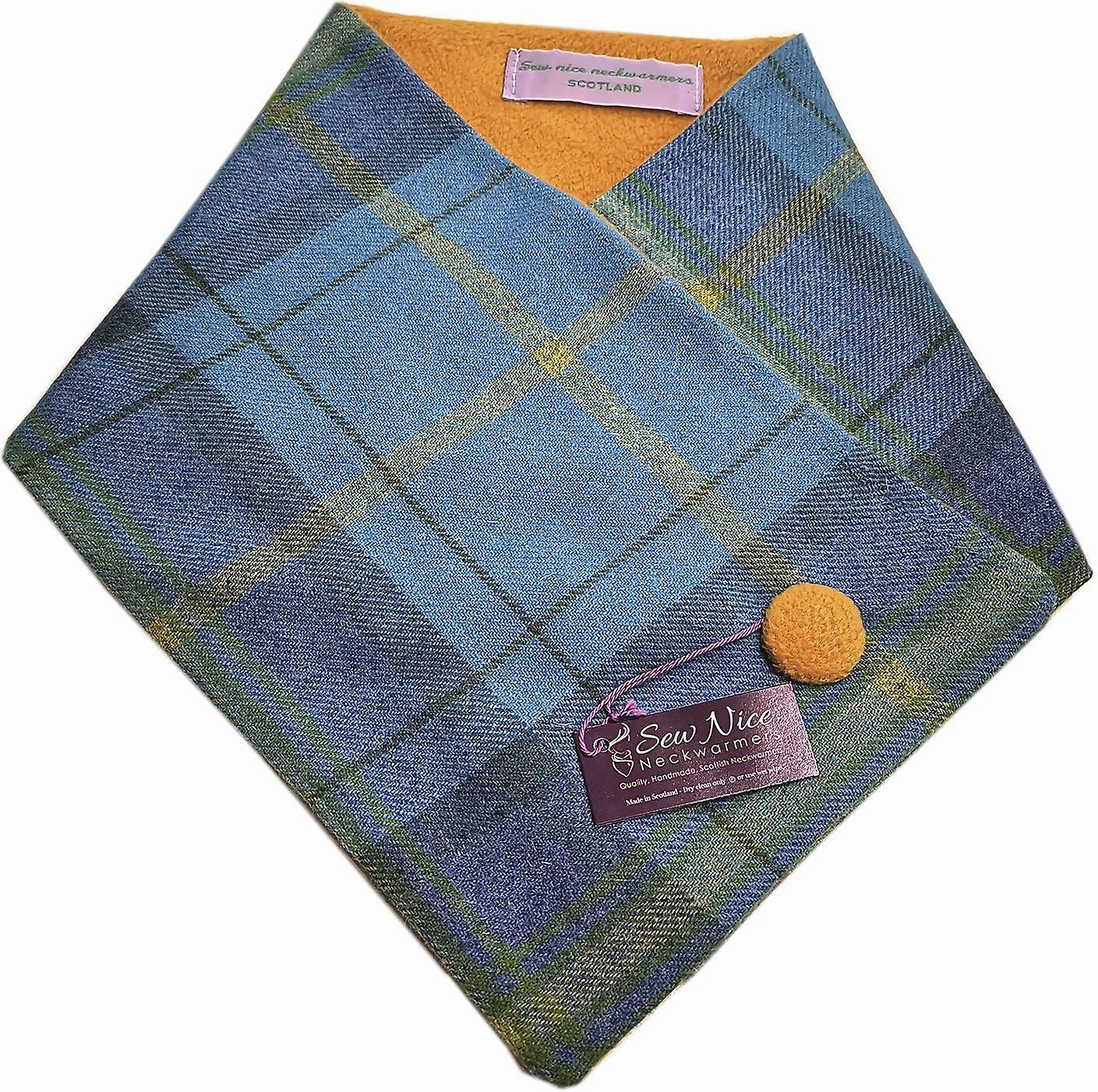Sew Nice Neckwarmers Blue & Yellow Tweed One Size