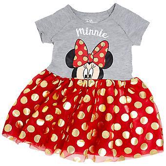 ミニーマウス弓幼児ドレス