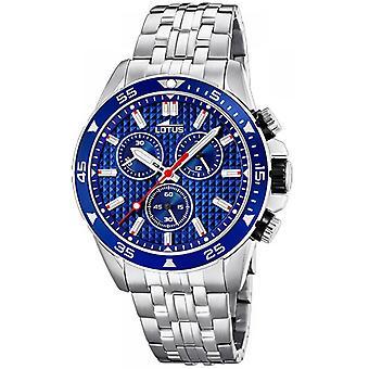 Lotus 18640-3 CHRONO watch - klockan stål Chrono ratten Blue Man