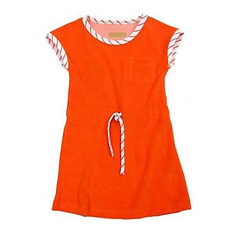 Lily Baba Feline Dress Terry Red Orange
