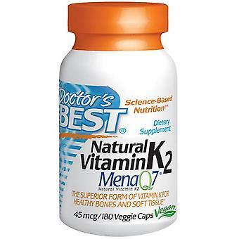 Natuurlijke vitamine K2 Mena Q7, 45 mcg (180 Veggie Caps) - Doctor-apos;s Best