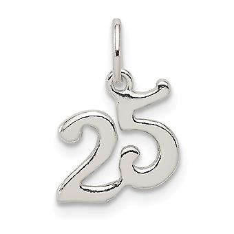 925 Sterling Silver Polished 25 Charm Pendant Necklace Jewelry Gifts for Women