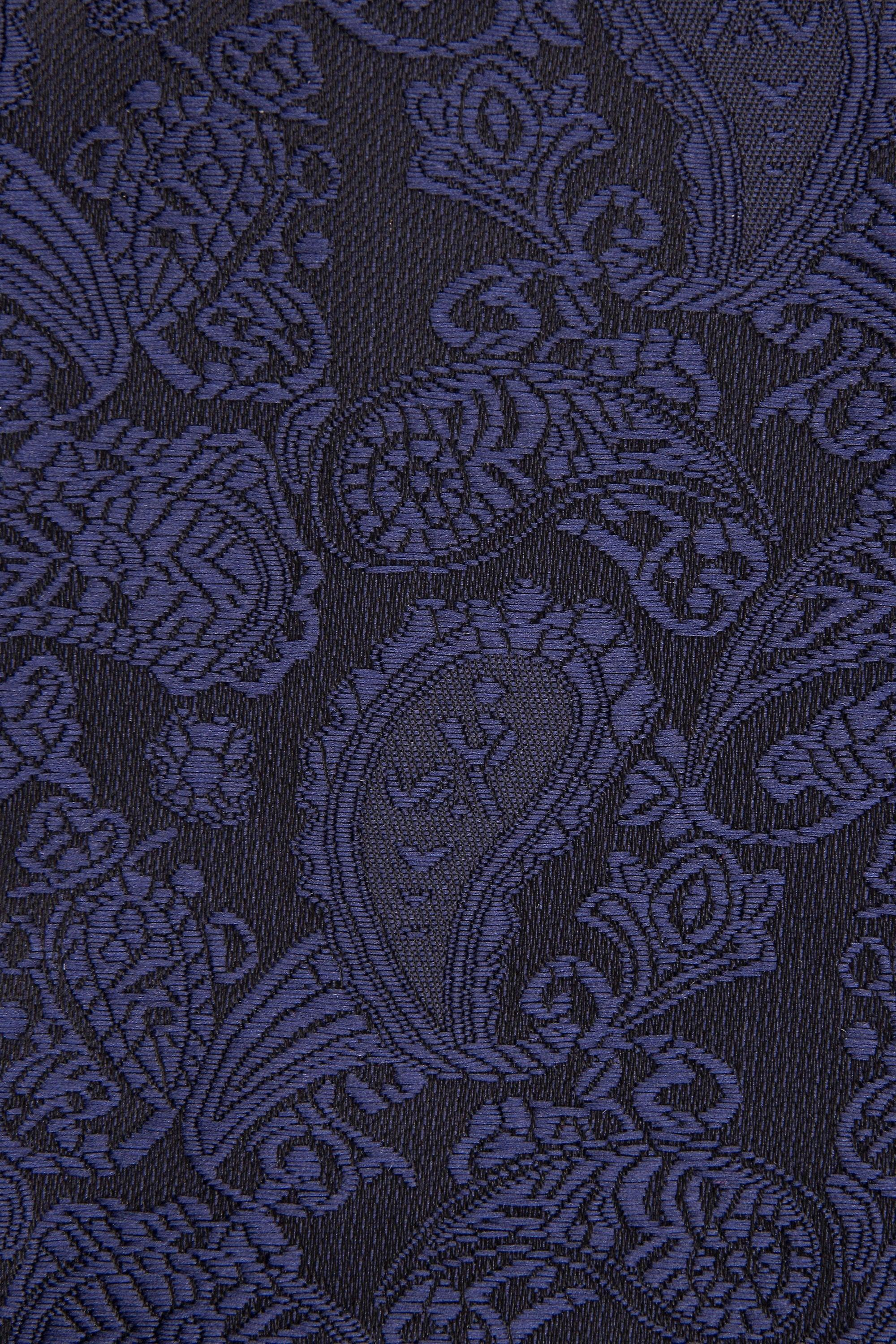 JSS Royal Blue Paisley Tie And Pocket Square Set