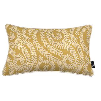 Mcalister textiles petit coussin jaune mimosa feuille