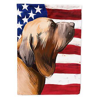 Fila Brasileiro Dog American Flag Flag Canvas House Size