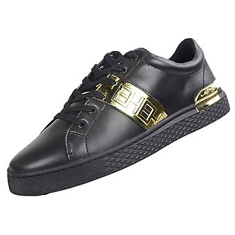 Ed Hardy Stripe Low Top Black/gold Trainers