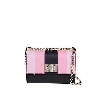 Furla 1056902 Women's Pink Leather Shoulder Bag