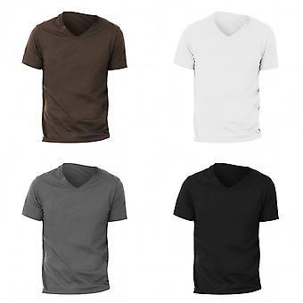 Canvas Mens Jersey Short Sleeve V-Neck T-Shirt