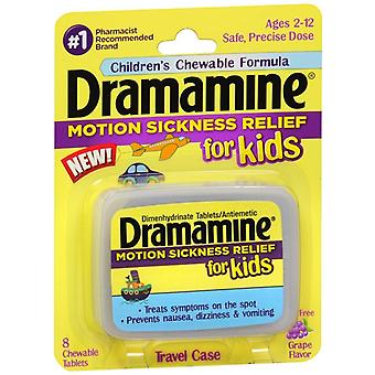 Dramamine motion sickness relief for kids, grape, 8 ea