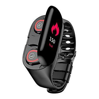 GoldenSpike M1 Sports Smartwatch + TWS Wireless Ears Earphones Built Fitness Sports Activity Tracker Smartphone Watch Ear Pods iOS Android