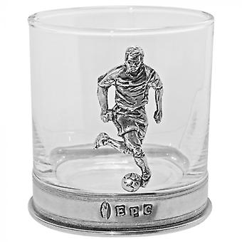 Labdarúgás Player Pewter whisky Glass Single Tumbler
