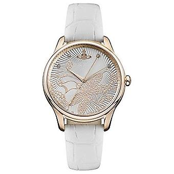 Vivienne Westwood Fitzrovia Quartz White Leather Strap Gold PVD Steel Case Ladies Watch VV197RSWH