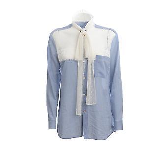 Red Valentino Tr3abc954sde34 Women's Light Blue Cotton Shirt