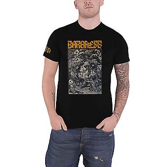 Baroness T Shirt Gold and Grey Tour 2019 Dates Band Logo Official Mens Black