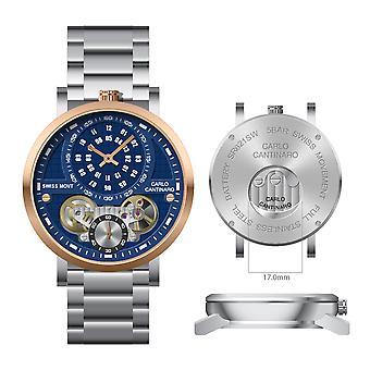 Carlo Cantinaro CC1004GB005 Men's Watch Quartzmatic GMT