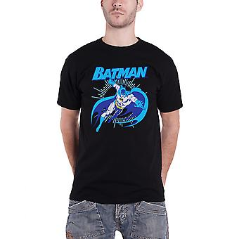 Batman T Shirt Mens Batman Leap Vintage Official DC Comics Black