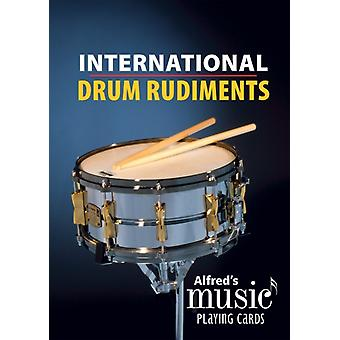 Alfreds Music Playing Cards  International Drum Rudiments  1 Pack Card Deck by Dave Black