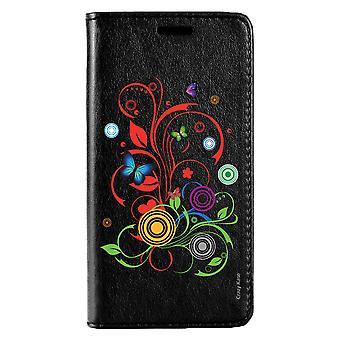 Fall für Huawei Mate 20 Lite schwarz Muster Schmetterlinge und Kreise