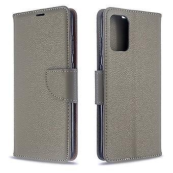 Für Samsung Galaxy S20 + Plus Fall, PU Leder Brieftasche Abdeckung mit Ständer & Lanyard, grau