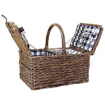 Charles Bentley Traditionelle 2 Person Wicker Picnic Basket Ternet Foring