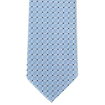 Michelsons krata Londyn Sprawdź krawat poliestrowy - jasnoniebieski