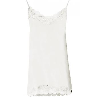 Oui Silky Lace Edged Top