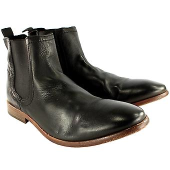 Mens H By Hudson Patterson Smart Pull On Leather Chelsea Boots New