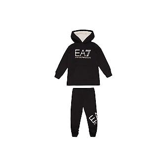 EA7 Girls Black Tracksuit