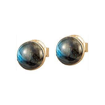 Jacques Lemans - Studs sterling silver plated with labradorite - SE-O122D