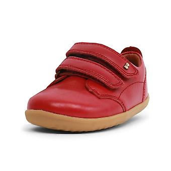 Bobux step up rio red port shoes