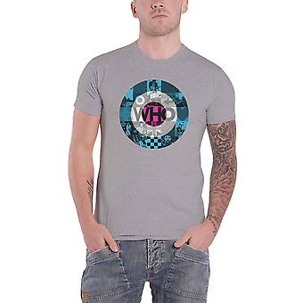 The Who T Shirt 5X5 Target Blocks Band Logo new Official Mens Grey
