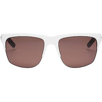 Electric California Knoxville Pro Sunglasses - Matte White/Polarized Rose Pro
