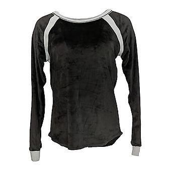 Cuddl Duds Women's Petite Pyjama Top Ultra Pluche Velvet Fleece Black A294796