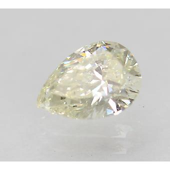 Certified 0.61 Carat I Color VVS2 Pear Enhanced Natural Diamond 6.75x4.79mm