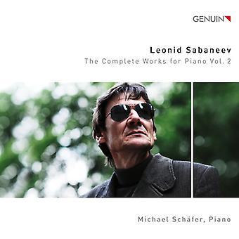 Sabaneev / Schafer - Sabaneev / Schafer: Complete Works for Piano 2 [CD] USA import