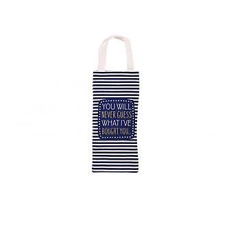 CGB Giftware You Will Never Guess Wine Bottle Bag