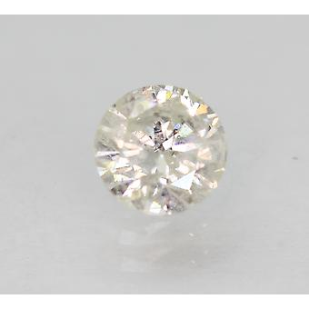 Certified 0.46 Carat H SI3 Round Brilliant Enhanced Natural Loose Diamond 4.9mm