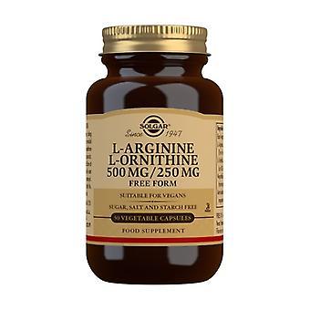 L-Arginine and L-Ornithine 500/250 50 vegetable capsules