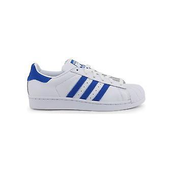 Adidas - Shoes - Sneakers - EE4474_Superstar - Unisex - white,royalblue - UK 5.0