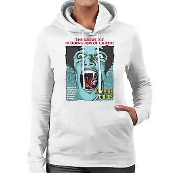 Hammer Horror Films Vampire Circus Greatest Blood Show Women's Hooded Sweatshirt