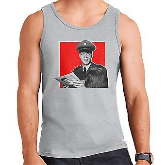 Elvis Presley podepisování autogramů armádní uniformní pop art muži ' s vest