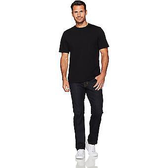 Essentials Men's 2-Pack Loose-Fit Short-Fit Camisetas Crewneck de Manga Curta, Preto, Médio